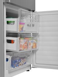 Холодильник с морозильником Candy CKBN 6200 DI серебристый