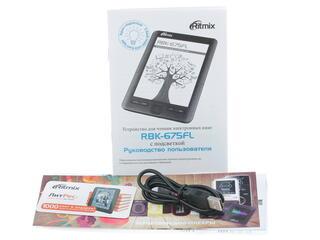 6'' Электронная книга RITMIX RBK-675FL черный