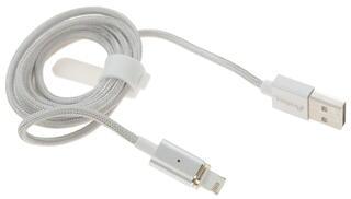 Кабель Partner ПР033505 USB A - Lightning 8-pin серебристый
