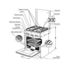 Газовая плита GEFEST 5100-02 0082 бежевый