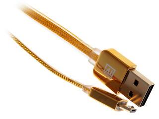Кабель Remax Golden  USB 2.0 - micro USB золотистый