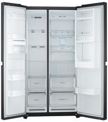 Холодильник с морозильником LG GC-M257UGLB черный