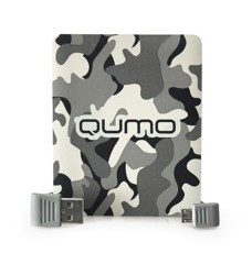 Портативный аккумулятор Qumo Real Man 10000 белый, зеленый
