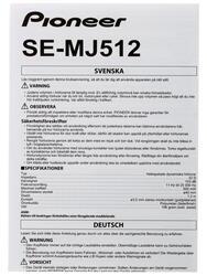 Наушники Pioneer SE-MJ512-R
