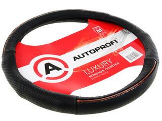 Оплетка на руль AUTOPROFI LUXURY AP-1060 черный