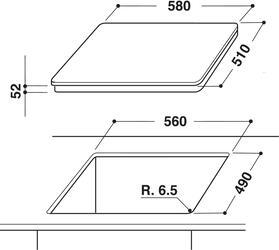 Электрическая варочная поверхность Whirlpool ACM 808/BA/WH