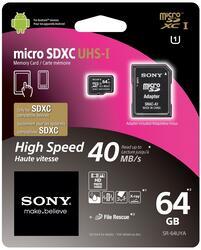Карта памяти Sony SR64UYAT microSDXC 64 Гб