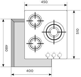 Газовая варочная поверхность LEX GVG 430 BL
