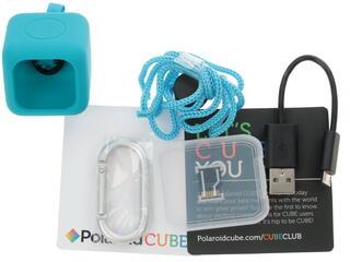 Экшн видеокамера Polaroid CUBE+ голубой