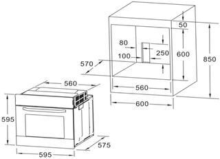 Электрический духовой шкаф Midea 65DAE40105