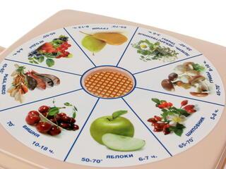 Сушилка для овощей и фруктов Дива СШ-010 белый, коричневый