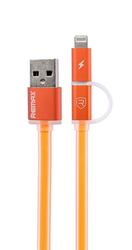 Кабель Remax 2 IN 1 Data Cable Aurora Cable USB - micro USB оранжевый