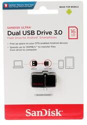 Память OTG USB Flash SanDisk Ultra Dual 3.0  16 ГБ