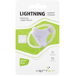 Адаптер Vertex S30-pin - Lightning 8-pin белый