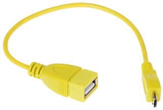 Кабель OTG Solomon micro USB - USB желтый