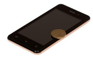 """4"""" Смартфон Micromax Bolt Q301 4 ГБ золотистый"""