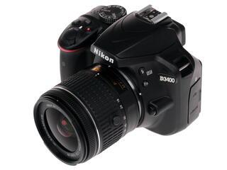 Зеркальная камера Nikon D3400 Kit 18-55mm VR AF-P черный