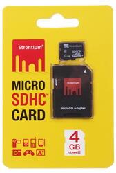 Карта памяти STRONTIUM microSDHC 4 Гб