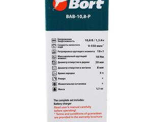 Шуруповерт BORT BAB-10.8-P