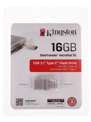 Память OTG USB Flash Kingston DataTraveler MicroDuo 3C  16 ГБ
