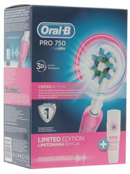 Электрическая зубная щетка Braun Oral-B 750/D16.513.UX Cross Action Pink