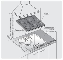 Газовая варочная поверхность Gefest СВН 2230 К27
