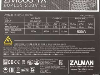 Блок питания Zalman TX 500W [ZM500-TX]