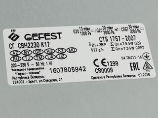 Газовая варочная поверхность Gefest СВН 2230 К17