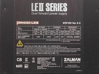 Блок питания Zalman LE 400W [ZM400-LE2]