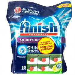 Таблетки для посудомоечных машин FINISH Quantum Яблоко Лайм
