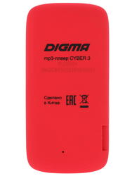 Мультимедиа плеер Digma Cyber 3 красный