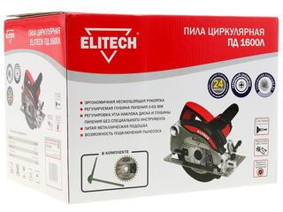 Пила дисковая Elitech ПД 1600Л