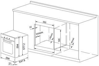 Электрический духовой шкаф Pyramida F 84 BLACK SSF (70)