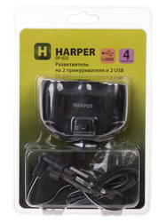 Разветвитель автоприкуривателя HARPER DP-822