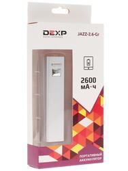 Портативный аккумулятор DEXP JAZZ-2.6-Gr серый