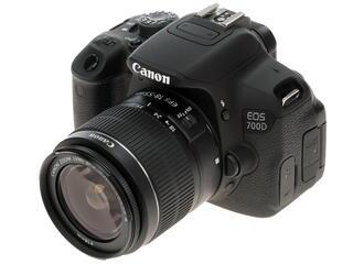 Зеркальная камера Canon EOS 700D Kit 18-55mm DC черный