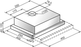 Вытяжка встраиваемая Elikor Интегра GLASS 45Н-400-В2Г серебристый, бежевый