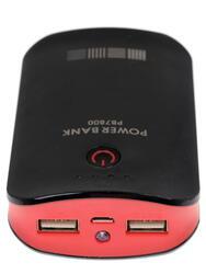Портативный аккумулятор InterStep IS-AK-PB7800LED-000B201 красный, черный