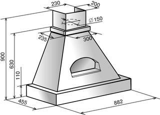 Вытяжка каминная Elikor Былина 90П-650-П3Г бежевый
