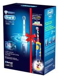 Набор электрических зубных щеток Braun Oral-B 8200/D701 Genius + Braun Oral-B D10.513K Mickey Kids