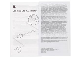 Переходник Apple MJ1M2ZM/A USB-C - USB белый