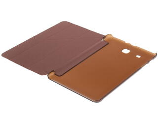 Чехол-книжка для планшета Samsung Galaxy Tab E коричневый