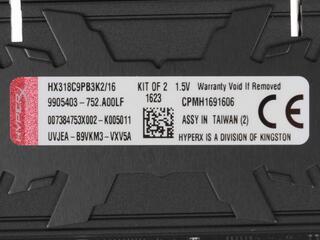 Оперативная память Kingston HyperX Predator [HX318C9PB3K2/16] 16 ГБ