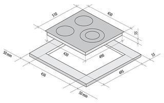 Электрическая варочная поверхность Fornelli PV 45 DELIZIA