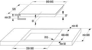 Электрическая варочная поверхность Gorenje GIS 62 XC