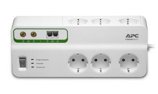 Сетевой фильтр APC SurgeArrest Home/Office PMH63VT-RS белый