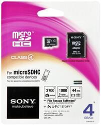 Карта памяти Sony microSDHC 4 Гб