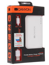 Портативный аккумулятор CANYON белый