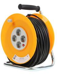 Удлинитель силовой Эра RP-4-3x1.0-50m черный, оранжевый