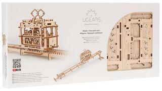 "Конструктор 3D-пазл Ugears - ""Трамвай с рельсами"""